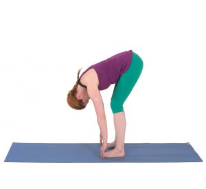 Forward bend exercise to avoid yoga injuries