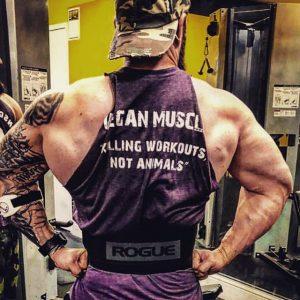 Vegan muscle and bodybuilder