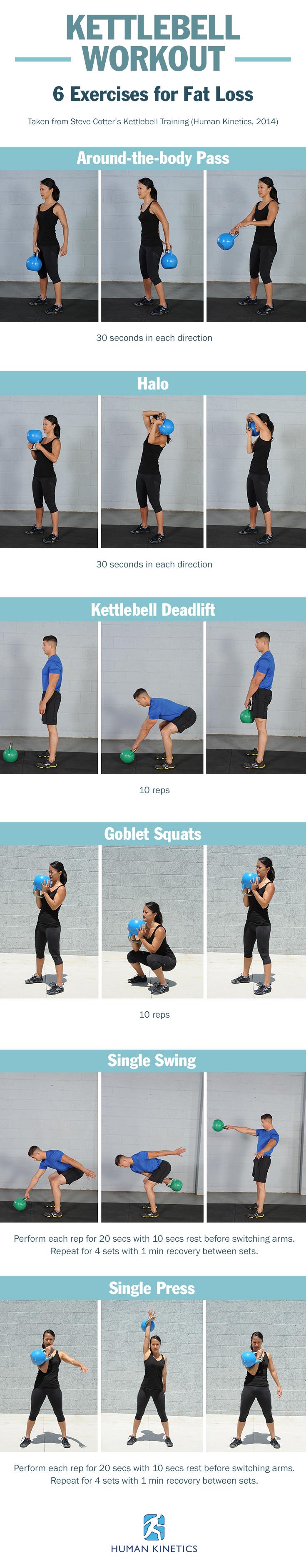 6 Kettlebell Exercises for Fat Loss