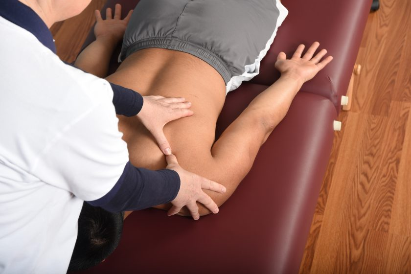 Active assisted soft tissue release for the upper back