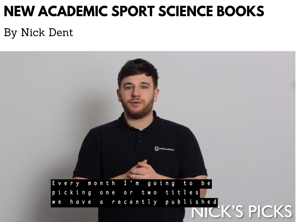 New academic sport science books Nicks Picks